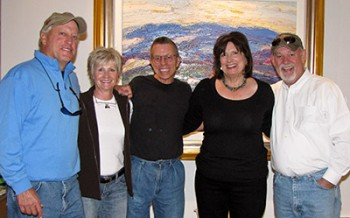 Jim Rabby with Collectors Lola & Tom McDonald and Jen Norman & Dick Burgett