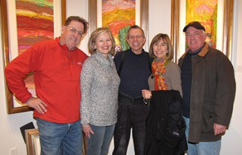 Jim Rabby with Collectors: Bill & Linda Miller and Linda & Trey Berry