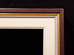 """3"""" Cherry Cap, 3/4"""" Antique Gold, 1/2"""" Painted Linen, 2 1/2"""" Linen Liner"""