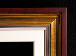 """4"""" Cherry Cap, Gold Scoop, 1/2"""" Silver, 1/2"""" Painted Linen, 2 1/2"""" Linen Liner"""