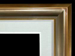 "4"" Gold Cap, Warm Silver Scoop,1/2"" Gold, 1/2"" Painted Linen, 2 1/2"" Linen Liner"