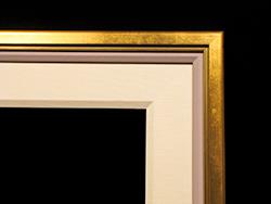 """Gold Espirit, 1/2"""" Gold, 1/2"""" Painted Linen, 3"""" Linen Liner"""