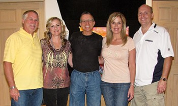 Jim Rabby with Collectors: Tra & Molly Cardwell and Shelly & David Little